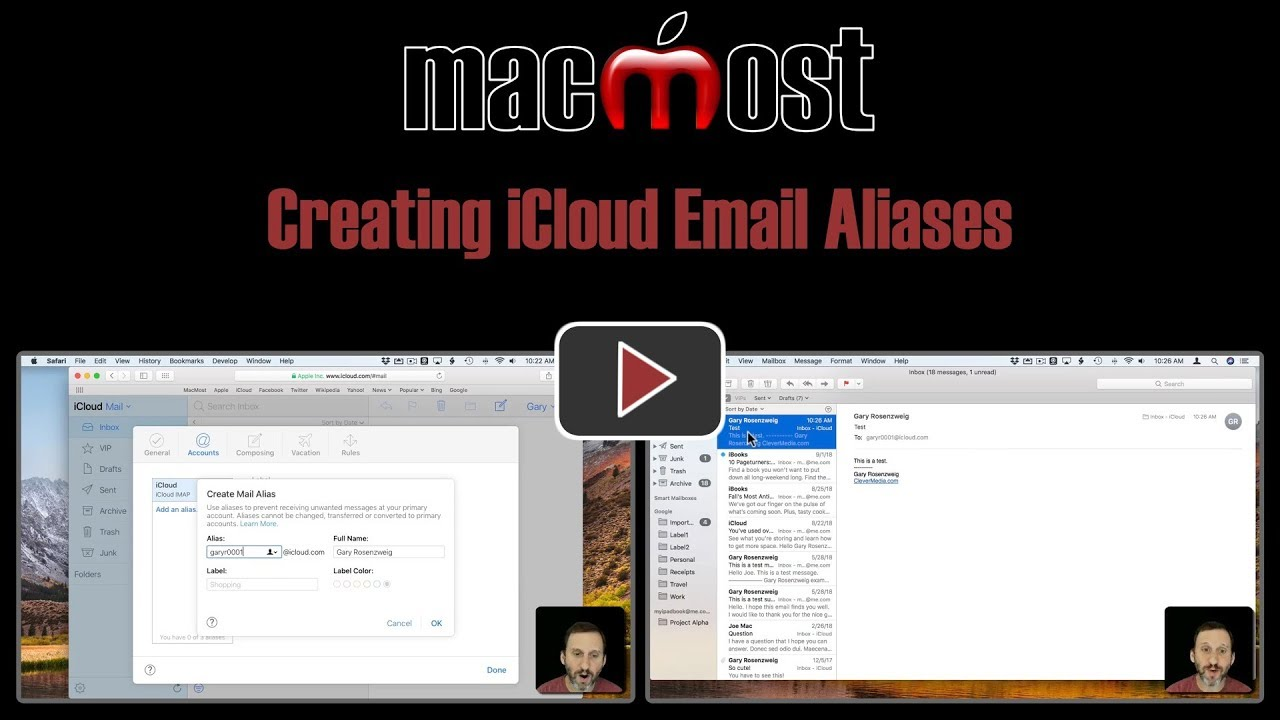 how to delete an icloud email address on my mac