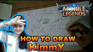 HOW TO DRAW KIMMY MOBILE LEGENDS [ SPEED DRAWING ] MENGGAMBAR HERO KIMMY MOBILE LEGENDS