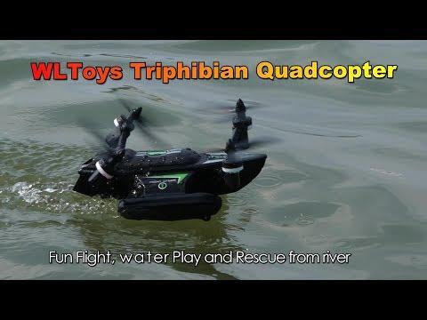 WLToys Q353 Air Land Sea Triphibian Quadcopter Water Play - UCsFctXdFnbeoKpLefdEloEQ