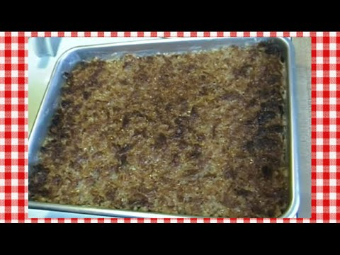 Oatmeal Cake with Broiled Coconut Topping Recipe ~ Noreen's Kitchen