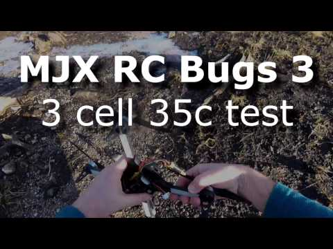MJX RC Bugs 3s cell 35c battery, manual flips attempt & crash! - UCndiA86FXfpMygSlTE2c70g