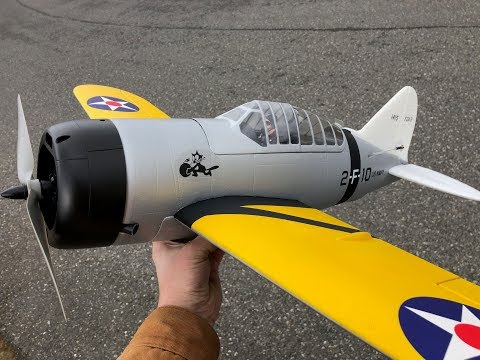 Durafly Brewster F2A Buffalo MAIDEN FLIGHT from HobbyKing - UCLqx43LM26ksQ_THrEZ7AcQ