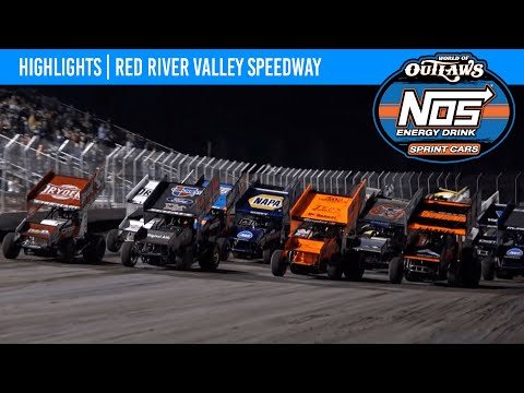 World of Outlaws NOS Energy Drink Sprint Cars Red River Valley Speedway August 21, 2021 | HIGHLIGHTS - dirt track racing video image