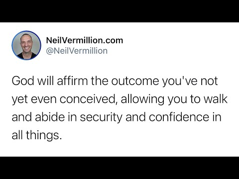 Growing In Security And Confidence - Daily Prophetic Word