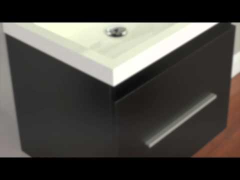 "Alya Bath AT-8006 24"" Single Modern Bathroom Vanity | Black"