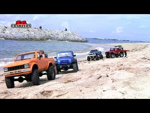 16 Trucks beach Trail: Land Rover Defender Dingo Honcho Trail Finder 2 Ford hilux Wild Willy - UCfrs2WW2Qb0bvlD2RmKKsyw