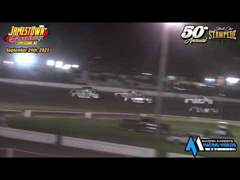 Jamestown Speedway WISSOTA Street Stock A-Main (50th Jamestown Stock Car Stampede) (9/24/21) - dirt track racing video image