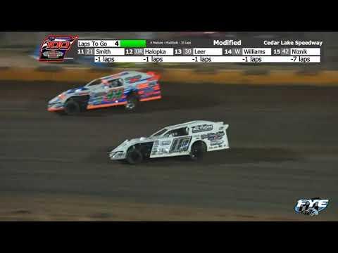 Cedar Lake Speedway 9/18/21 Modified Final Laps - dirt track racing video image