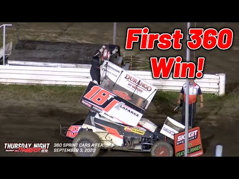 Tanner Holmes FIRST CAREER 360 SPRINT CAR WIN! (Skagit Speedway) - dirt track racing video image