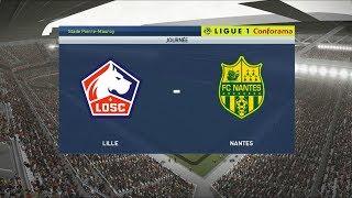 Lille vs Nantes | Stade Pierre-Mauroy | 2019-20 Ligue 1 | PES 2019
