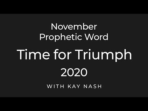 November Prophetic Word 2020- Triumph
