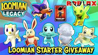 LOOMIAN LEGACY - Buying & Giving Away Starters While We Wait for PVP Update + Robux Card Giveaway