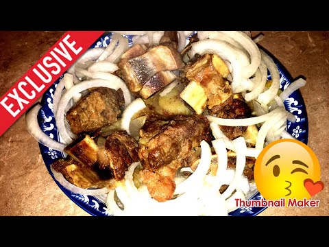 Kazan Kebab or Uzbek Fried Meat with Potatoes