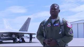 F 22 Raptors land in Great Falls ahead of Mission Over Malmstrom