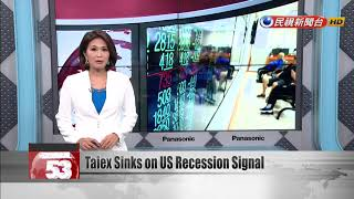Taiwan shares sink on US recession warning
