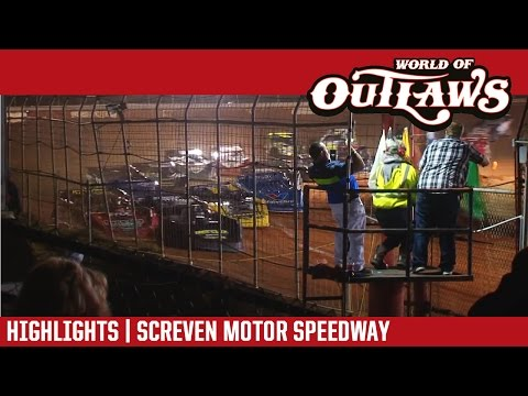 World of Outlaws Craftsman Late Models Screven Motor Speedway February 18, 2017 | HIGHLIGHTS - dirt track racing video image