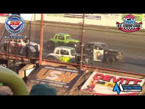 Sheyenne Speedway INEX Legends A-Main (5/31/21) - dirt track racing video image