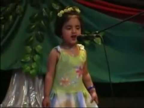 Cute Afghan Girl Singing A Song