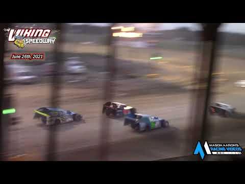 Viking Speedway WISSOTA Modified A-Main (6/26/21) - dirt track racing video image