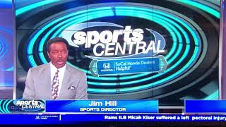 "KCBS CBS 2 ""Sports Central"" Sunday Night open August 18, 2019"