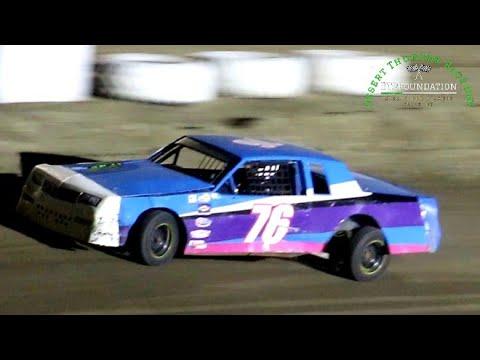Desert Thunder Raceway IMCA Hobby Stock Main Event 8/28/21 - dirt track racing video image