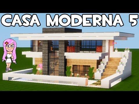 Youtube casa moderna 5 en minecraft c mo hacer for Casa moderna 8 en minecraft mirote y blancana