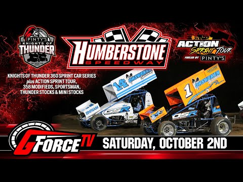 10/02/2021   Pinty's Knight's of Thunder   Humberstone Speedway - dirt track racing video image