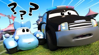 Police car for kids -  Little lost Katy  - Car Patrol in Car City !