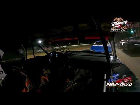 #54 David Hendrix - Usra Stock Car - 9-24-2021 Midway Speedway - In Car Camera - dirt track racing video image