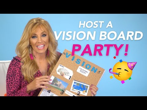 How to Host a Vision Board Party 2021  Manifest the Dreams in Your Heart