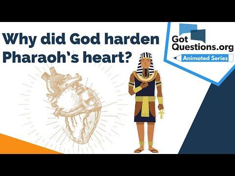 Why did God harden Pharaohs heart?