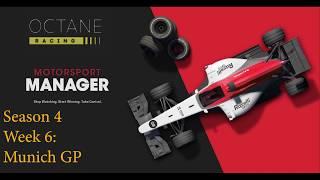 Motorsport Manager - Octane Racing - Season 4 Week 6 - Munich GP