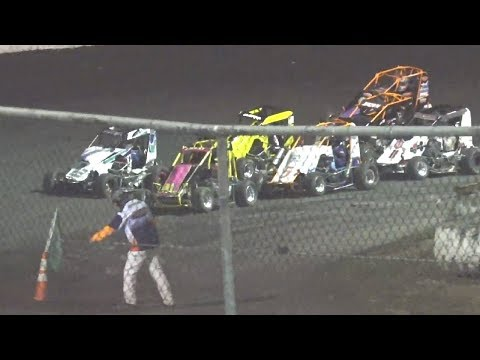 20 Laps - 1 #53j Jim Beck, 2 #3r Nick Robfogel, 3 #5k Kyle Grissom, 4 #88 Koen Shaw, 5 #11 Carroll Mendenhall, ,6 #8r Rob Brown, 7 #31 Sam Borland, 8 #24 Victor Guerra, 9 #22 Jeromie Charon, 10 #41s Jack Clark, 11 #8s Savannah Brown, 12 #11s Anton Gianini, 13 #13 Jerry Andrade, 14 #3x Charlie Emery, 15 #23 George Nielson.  Flagman/Starter: Scott Erwin Race Announcer: Ron Lingron Track Promoter: Rick Faeth Saturday, October 12, 2019 - dirt track racing video image