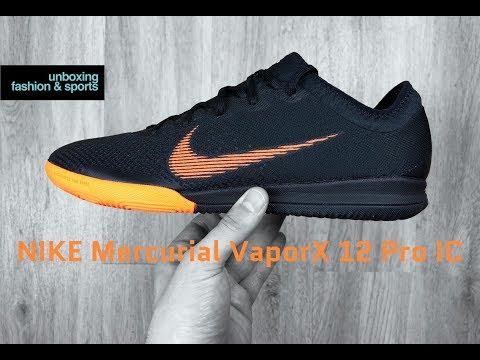 online retailer 6575e 58c7e Nike Mercurial VAPORX 12 Pro IC  Black tote OR    UNBOXING   ON FEET   football  boots   2018   4K