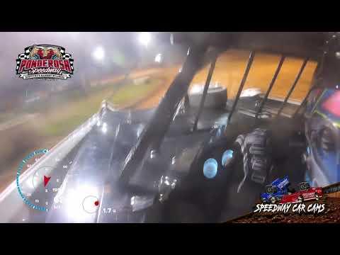 #71 Hudson O'Neal - Heat Race - Super Late Model - 8-6-21 Ponderosa Speedway - In-Car Camera - dirt track racing video image