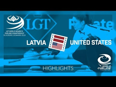 HIGHLIGHTS: Latvia v United States - round robin - LGT World Women's Curling Championship 2019