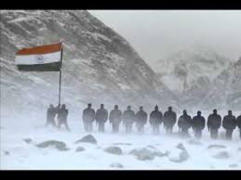 Indian Army Dance In Glacier Mountain
