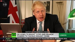 PM vows to boost 'stop and search' powers to tackle violent crime