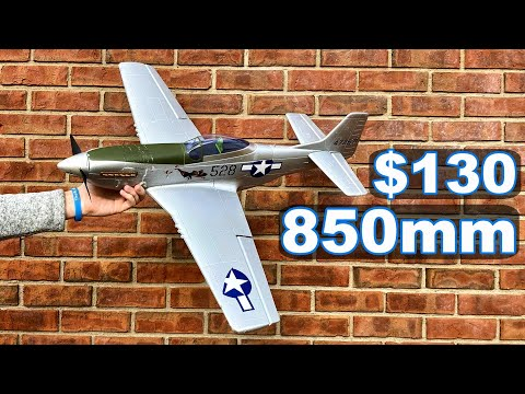 "$130 FAST P-51D Mustang 3S & 4S Capable Warbird - Flightline P-51D Mustang 850MM 33"" - TheRcSaylors - UCYWhRC3xtD_acDIZdr53huA"