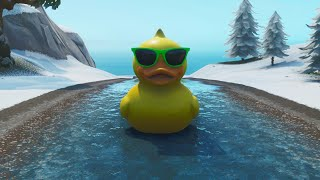 Destroying the 'Giant Rubber Ducky' in Fortnite Battle Royale! (1,000,000 HEALTH)
