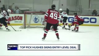Jack Hughes signs Devils contract and his jersey shoots to top of NHL's sales