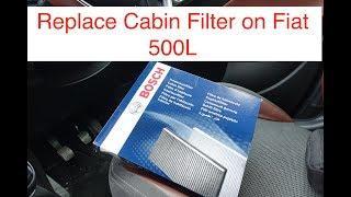 Smontare filtro antipolline Fiat 500L