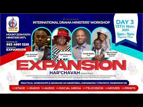 INTERNATIONAL DRAMA MINISTERS WORKSHOP - HAR'CHAVAH [EXPANSION] Day 3