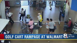 Man drives golf cart inside Gibsonton Walmart, hitting several customers