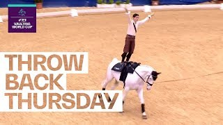 Jannis Drewell's title defense from 2018 #Throwback | FEI Vaulting World Cup™