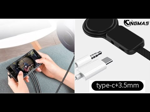 Bluetooth Type-C to Type C 3.5mm headset Aux Jack Charging for Samsung S10 Plus Huawei P30 Xiaomi