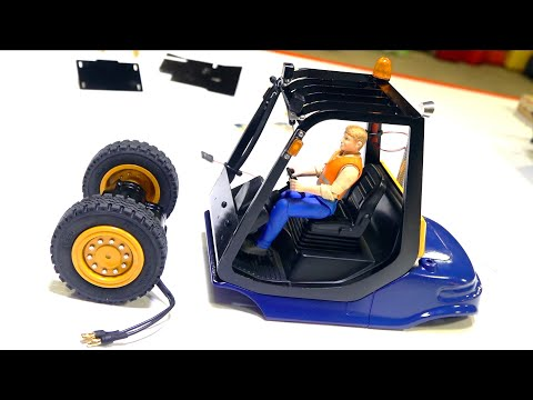 "BUILDING a ""LINDE"" HYDRAULIC FORKLIFT CAGE, LIGHTS, MOTOR - LESU ALL Metal KIT PT 3 