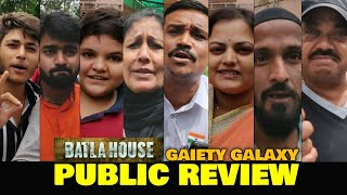 Batla House PUBLIC REVIEW at Gaiety Galaxy | John Abraham, Mrunal Thakur | Based on True Incident
