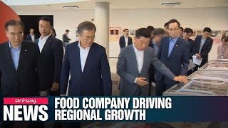 Pres. Moon visits Major S. Korean food Company that promises to invest US$728 mil. In region