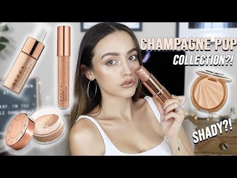 BECCA CHAMPAGNE POP COLLECTION | Try on Review - HIT OR MISS - UC8v4vz_n2rys6Yxpj8LuOBA